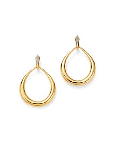 Roberto Coin - 18K Yellow Gold Diamond Teardrop Earrings